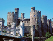 Conwy Castle (Wales) - started in 1283, its walls are up to 4.5 metres thick!