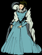 Diva Goth - dressed in icy blue, hands on hips, elegant and standing proud.