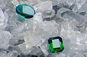 Emerald Crystal - with its green glow, emerald helps aid harmony.