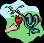Serpent - wrapped around a tree, tempting you to eat that apple!