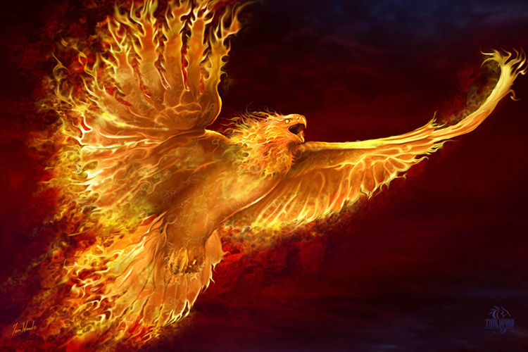 Fire Phoenix - Egyptian Fire God -  King Tut