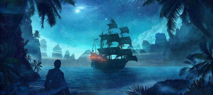 ผลการค้นหารูปภาพสำหรับ fantasy pirate ship